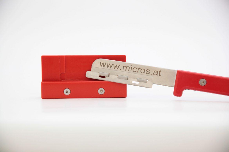 Sicherheitsgriff für Mikrotomklingen